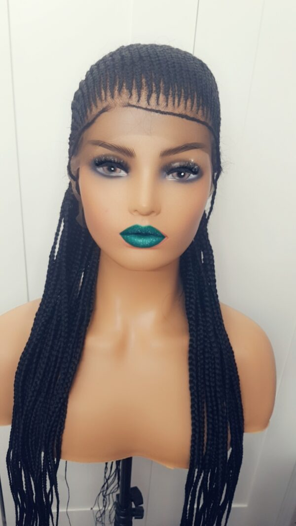 ALL BACK Full Lace braid Ghana weave wig